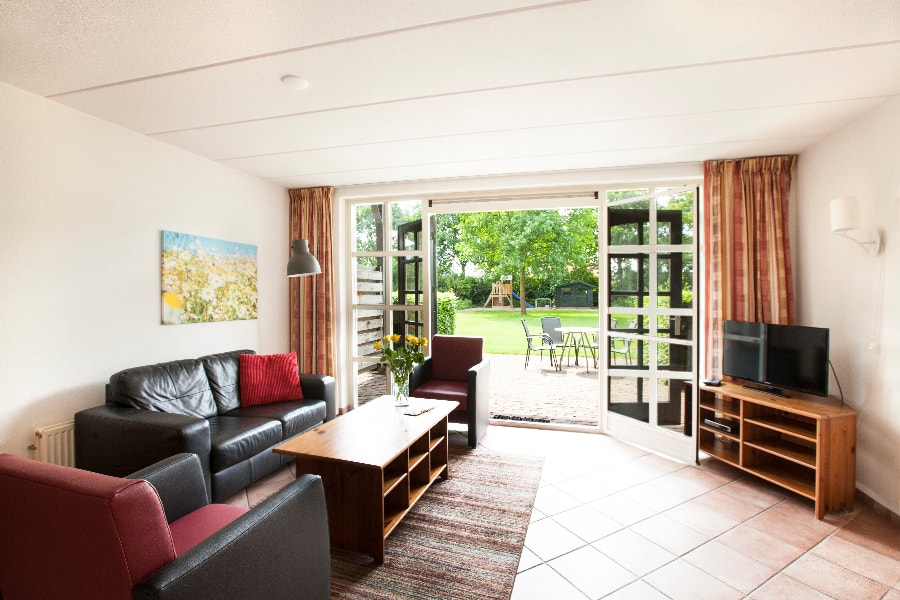 Vakantiehuisje Nijmegen, uitzicht op terras
